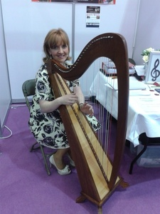 Brenda Grealis with Harp