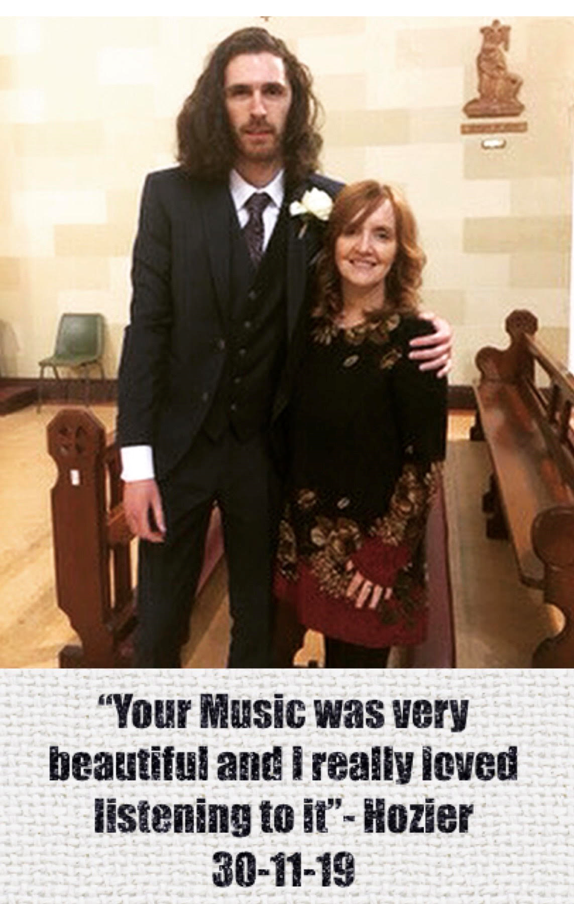 Hozier with Brenda Grealis